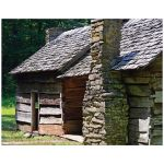 Old wood house color photography