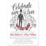 Celebrate Our Love Gentlemen's Wedding Invitations