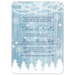 Winter Wonderland Post-Wedding Reception Invitations