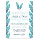 Elegant Feathers Mister & Mister Gay Wedding Invitations