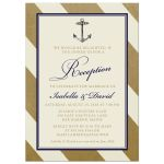 Elegant Nautical Post Wedding Reception Only Invitations