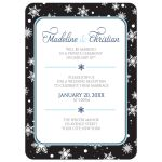 Reception Only Invitations - Midnight Snowflake Winter