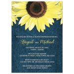 Couples Shower Invitations - Rustic Sunflower and Denim