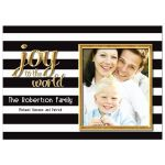 Joyful And Elegant Gold Accent Holiday Photo Greeting Card