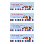 All Stars Sports Return Address Mailing Labels