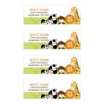Bright Jungle Safari Return Address Mailing Labels