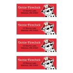 Dalmatian Firetruck Return Address Mailing Labels