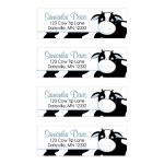 Blue Cow Farm Return Address Mailing Label Sticker
