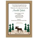 Rustic Moose Customized Baby Shower Invitation