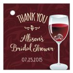 Gift Favor Tag - Rings in a Wine Glass