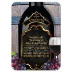 Reception Insert Card - Rustic Winery Vineyard Wine Bottle