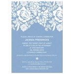 Bridal Shower Invitation - Modern Blue Floral Damask