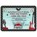 Wedding Invitation - Polka Dot Rockabilly Music