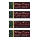 Best peacock feathers return address labels for wedding invitations and rsvp cards in wine and gold
