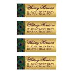 Best peacock feather return address labels for wedding invitations and rsvp cards
