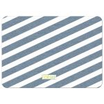 Blue and White Winter Stripes Holiday Photo Card