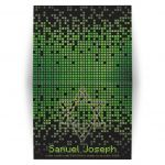 ​Video game pixel graphic green black Bar Mitzvah thank you card