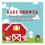 On the farm country baby shower favor gift tags