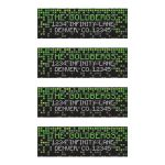 ​Video game pixel graphic green black Bar Mitzvah mailing labels