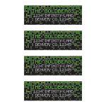 Video game pixel graphic green black Bar Mitzvah mailing labels