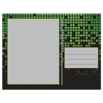 Video game pixel graphic green black Bar Mitzvah thank you postcard back