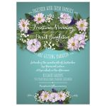 Wedding Invitation - Aqua Flower Bouquet