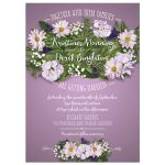 Wedding Invitation - Purple Flower Bouquet