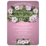 Wedding Invitation - Pink Flower Bouquet