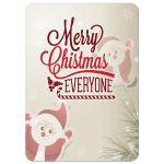 Whimsical Holiday Santa Photo Template Greeting Card