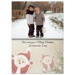 Whimsical Holiday Santa Photo Template