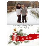 Christmas Retro Candlelight Photo Template Holiday Card