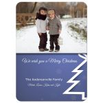 Contemporary Holiday Snowflake Photo Template Christmas Card