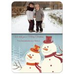 Happy Snowmen Photo Template Holiday Greeting Card