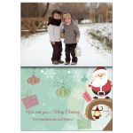 Whimsical Winter Birds And Holiday Presents Photo Template Card