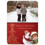 Smiling Elf Christmas Family Photo Template Card