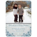 Modern Snowflake Holiday Photo Template Card