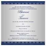Great east indian engagement invites in navy blue and silver gray with Ganesha