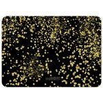 Sparkly Gold Confetti Merry Christmas Photo Card Template
