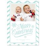 Chevron Christmas Wishes Holiday Card