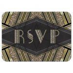 Art Deco Gatsby RSVP card