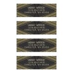 Art Deco Black Gold Glitter Address Labels