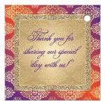 Affordable Hindu, Indian, Muslim wedding thank you favor tag