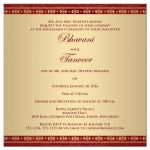 Great east indian engagement invites in red, orange and gold with Ganesha