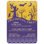 Whimsical and Spooky Custom Halloween Party Invitation