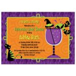 Witches' brew Halloween bridal shower cocktail party invitation