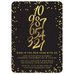 Golden Confetti Countdown New Year's Eve Party Invitations