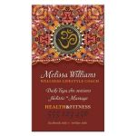 Om Business Cards | Orange Pink Batik