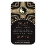 Yin Yang Black+Gold New Age Deco Business Card template