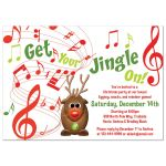 Rudolph the red-nosed reindeer Christmas Party Invitation front