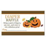 Halloween Jack O' Lantern Pumpkins Baby Shower Diaper Raffle Cards